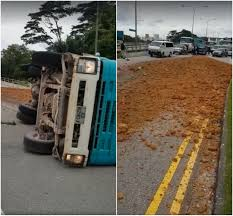 100 Truck Driving Schools In Maine Singapore Carrying Soil Flips In Turf Club Avenue