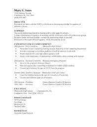 School Counselor Resume Examples Guidance Sample Educator Template Cv R