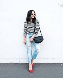 2017 Obey Striped Shirt Madewell Summer Jeans Jeffrey Campbell Bitsie Flats APC Geneve