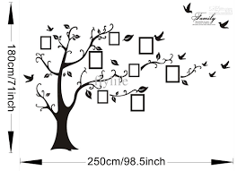 Wall Mural Decals Tree by Large Size Black Family Photo Frames Tree Wall Stickers Diy Home