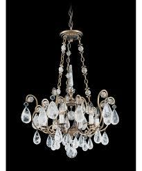 Swarovski Crystal Lamp Finials by Schonbek 2486 Versailles Rock Crystal 22 Inch Wide 6 Light