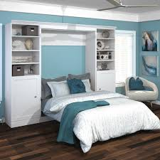 Bestar Edge Murphy Wall Bed with 1 Door and 3 Shelf Attached