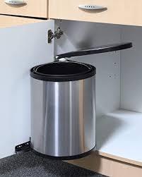 spetebo edelstahl einbau mülleimer 12 liter abfalleimer abfallsammler schwenkeimer abfallbehälter küche