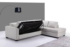 canap lit avec rangement designer en cuir véritable canapé lit 3 places avec amovible