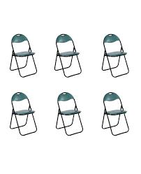 klappstuhl gepolstert grün metall 6er set küchen klappstuhl cingstuhl gästestühle