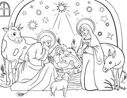 Nativity Printable Coloring Pages 16 Christmas