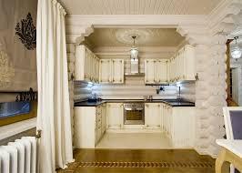 Log cabin decor kitchen farmhouse with white kitchen log home
