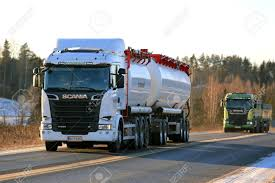SALO, FINLAND - JANUARY 5, 2017: White Scania R580 Bulk Transport ... Rail Bulk Distribution Pdi Efficient Truck Loading System The New Bulkup By Schrage Conveying Salo Finland May 25 2013 A Scania 620 Transport Truck In Hj Van Bentum Bv Transport Company Bulk Powder Tanker Trailer And Withofs Mailing Jacobs Logistics Hey Whats On That Idenfication Of Hazardous Materials Hensley Feed Trailers Habys Powder Transportation Transloading Solliquidsflammables Barberton Oh Dry Air Filtration Solutions Centri Precleaners