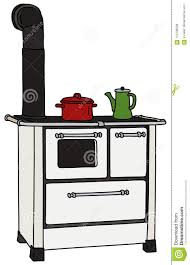 Download The Retro White Kitchen Stove Stock Vector