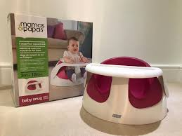 siege snug mamas papas snug supported seat in raspberry suitable from 3 12