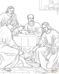 Last Supper Of Jesus Coloring Page For