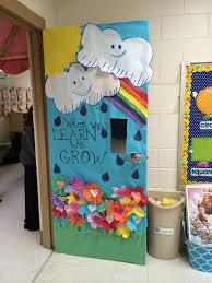 spring rainbow class door decoration when we learn we grow
