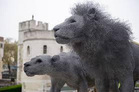 Chicken Wire Lion Sculptures By Kendra Haste