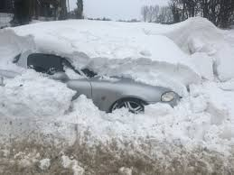 The Parked Car Submerged In Snow Pulham Market Picture CLAYTON HUDSON
