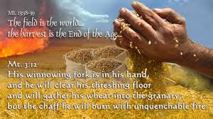 Threshing Floor Bible Meaning by His Winnowing Fork Is In His Hand
