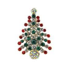 Christmas Tree Amazon Uk by Multi Colored Crystal Christmas Tree Brooch Pin Christmas Gift