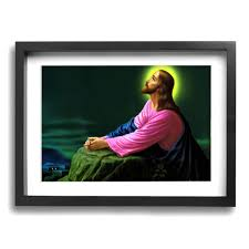 Amazoncom TREEWw Jesus Christ Praying At Gethsemane