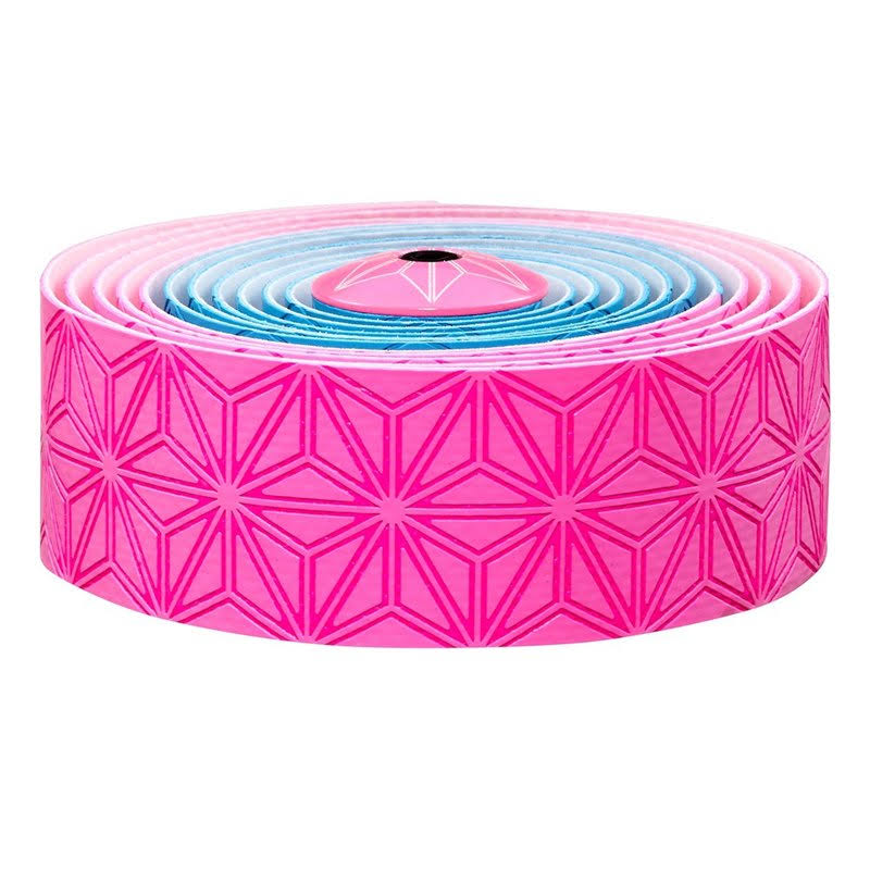 Supacaz Super Sticky Kush Bar Tape - Pink/Blue
