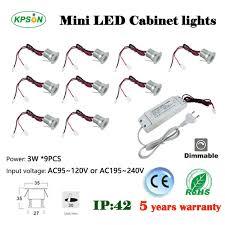 9pcs set mini led downlight 3w cabinet l 25d 60d degree spot