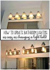 Rustic Cabin Bathroom Lights by Delighted Rustic Bathroom Light Fixtures Ideas Bathtub For