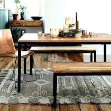West Elm Dining Tables Bench Kitchen Table Box Frame Wood With Regard