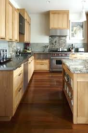 Dark Cabinets Floors Kitchen Light Cabinet Maple With Wood