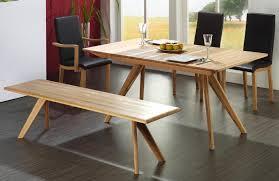ausziehbarer esstisch aus massivholz ohne einlegeplatte