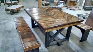 New Restored Dining Room Tables DIY Pallet Chevron Kitchen Table 101 Pallets
