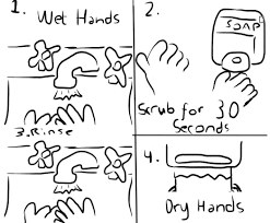 Hand Washing Coloring Pages And
