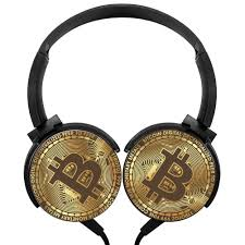 100 Axis Design Amazoncom Rotation Wired Headset Golden Bitcoin Stereo