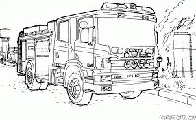 Coloring Page - Fire Truck Scania