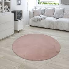 hochflor teppich shaggy kunst fell rosa