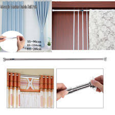 Spring Loaded Curtain Rod 300cm by Aluminium Curtain Poles And Finials Ebay