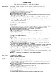 Student Research Assistant Resume Samples | Velvet Jobs Resume For Research Assistant Sample Rumes Interns For Entry Level Clinical Associate Undergraduate Assistant Example Executive Administrative Labatory Technician Free Lab Examples By Real People Market Objective New Teacher Aide No Experience Elegant Luxury Psychology Atclgrain Biology Ixiplay