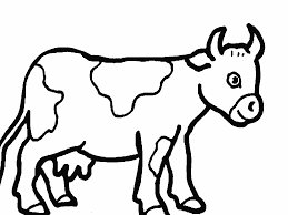 Cute Farm Animals Cow Coloring Pages For Kids Boys And Girls