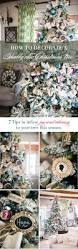 Flocked Christmas Trees Decorated by How To Decorate A Flocked Shabby Chic Christmas Tree Celebrating