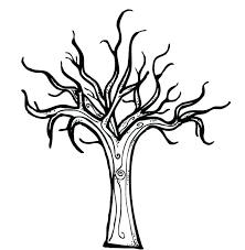bare tree coloring page hiseekinfo