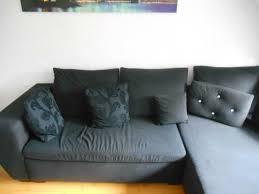 sofa schwarz stoff mit kissen guter zustand otto