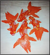 wildfire fancy koi fish shaped mosaic ceramic tiles for