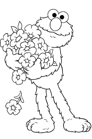 Elmo Christmas Coloring Pages Free Halloween Print Printable Full Size