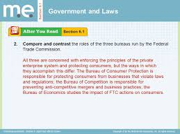 us federal trade commission bureau of consumer protection chapter 6 and ethical issues section 6 1 government and laws