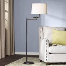 Wayfair Arc Floor Lamps by Floor Lamp With Swing Arm Xiedp Lights Decoration