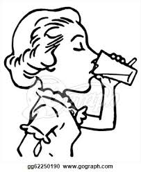Glass Water Clipart Black And White