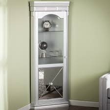 Corner Curio Cabinet Walmart by Lighted Curio Cabinet Townsend Large Oak Curio Display Cabinet