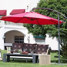 Patio Umbrella With Netting by Abba Patio 10 Feet Offset Cantilever Umbrella Outdoor Hanging