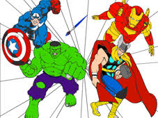 The Avengers Cartoon Coloring Game Play Online