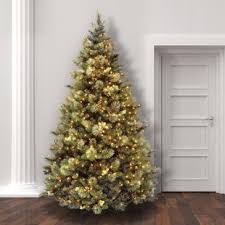 Green Pine Trees Artificial Christmas Tree With Clear White Lights