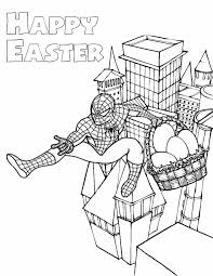 Spiderman Easter Coloring Page