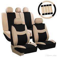 Four Seasons Universal 5 Headrest Flat Cloth Car Seat Cover Set ...