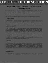 100 Great Looking Resumes Tips To Make A Good Resume